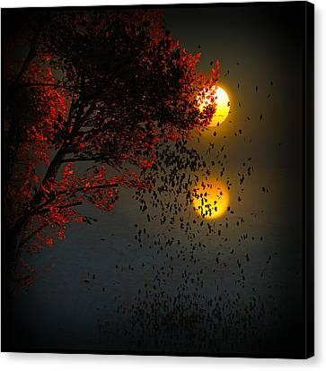Fiery Fall... Canvas Print