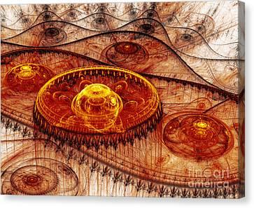 Fiery Fantasy Landscape Canvas Print by Martin Capek