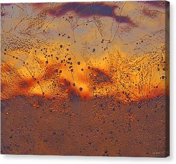 Fiery Horizon Canvas Print by Sami Tiainen