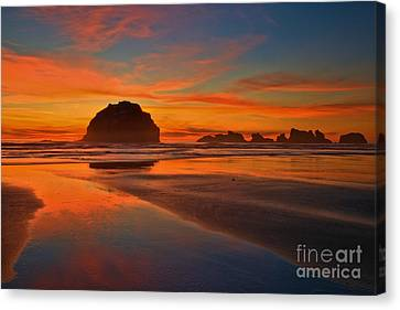 Fiery Ocean Stream Canvas Print by Adam Jewell