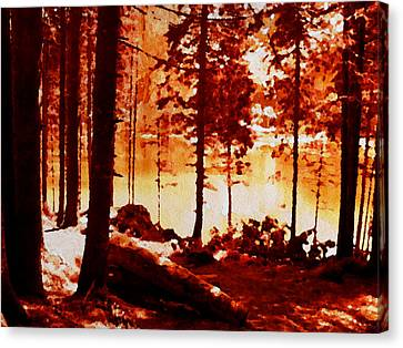 Fiery Red Landscape Canvas Print