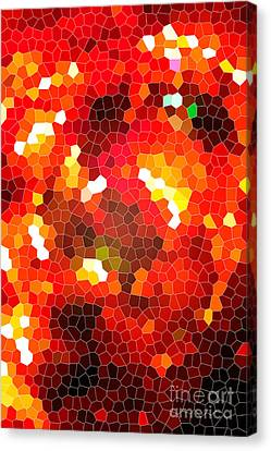 Fiery Red Stained Glass Canvas Print by Gaspar Avila