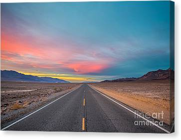 Fiery Road Though The Valley Of Death Canvas Print