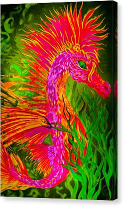 Fiery Sea Horse Canvas Print by Adria Trail