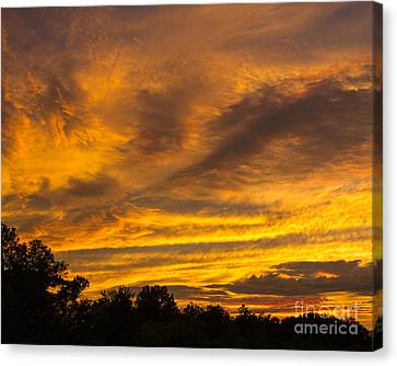 Canvas Print featuring the photograph Fiery Skies by Dale Nelson