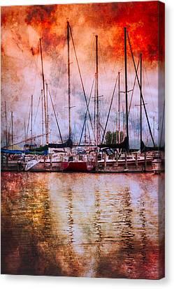 Fiery Skies Canvas Print by Debra and Dave Vanderlaan