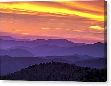 Fiery Smoky Sunset Canvas Print by Andrew Soundarajan