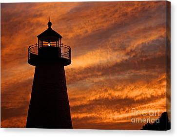 Fiery Sunset Canvas Print by Amazing Jules