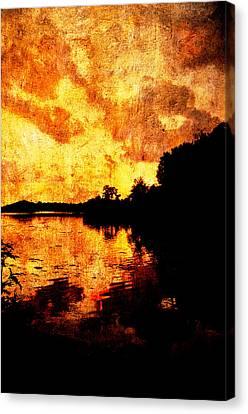 Fiery Sunset Canvas Print by Randi Kuhne