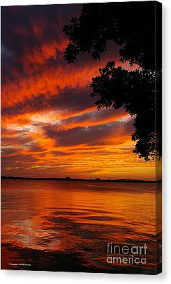 Fiery Sunset Canvas Print by Tannis  Baldwin
