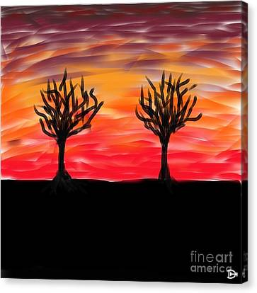 Fiery Twins Canvas Print by Andy Heavens