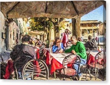 Fiesole Al Fresco Canvas Print by Liz Leyden