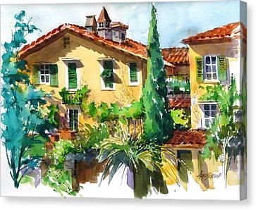 Fiesole Villa Canvas Print by Art Scholz