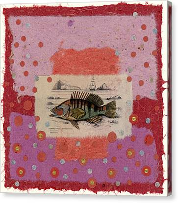 Fiesta Fish Collage Canvas Print