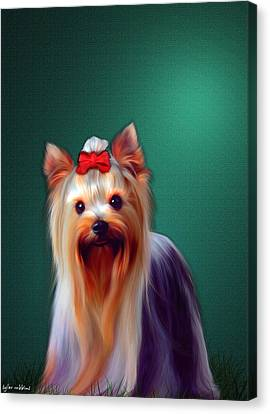 Canvas Print featuring the painting Fifi by Tyler Robbins