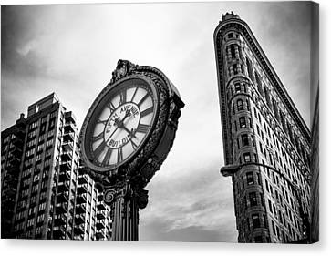 Fifth Avenue Building Clock Canvas Print