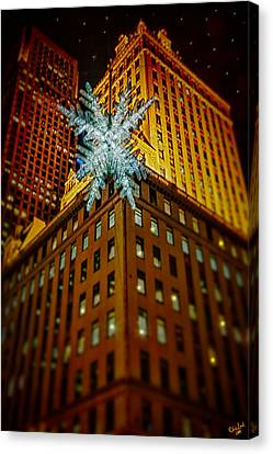 Canvas Print featuring the photograph Fifth Avenue Holiday Star by Chris Lord