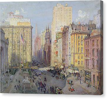 Fifth Avenue, New York, 1913 Oil On Canvas Canvas Print by Colin Campbell Cooper