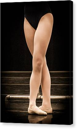 Fifth Position Canvas Print by Dee Dee  Whittle