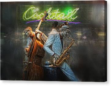 Fifties Cocktail Jazz Canvas Print by Joachim G Pinkawa