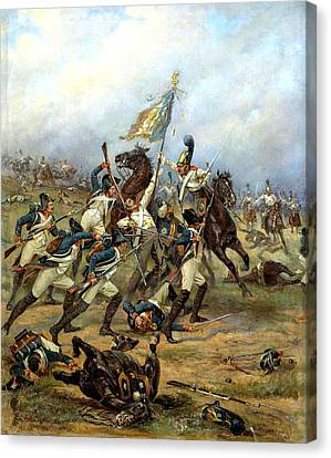 Fight For The Banner Canvas Print by Victor Mazurovsky