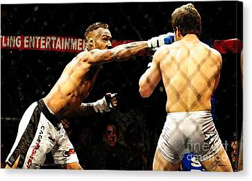 Fight Night No. 19 Canvas Print by Shawn Lyte