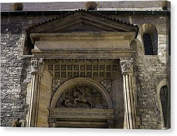Medieval Entrance Canvas Print - Fight With The Dragon. by Fernando Barozza