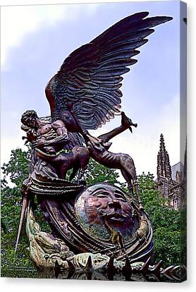 Fighting Angel Canvas Print by Terry Reynoldson