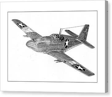Ww Ii Canvas Print - Fighting P 51 by Jack Pumphrey