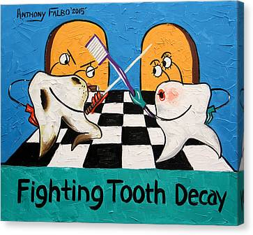 Fighting Tooth Decay Canvas Print