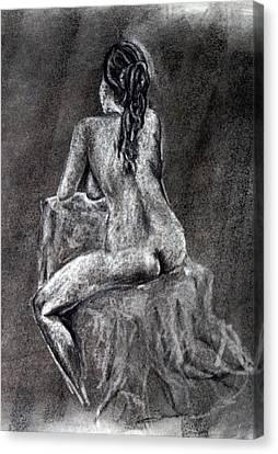 Figure Drawing 2 Canvas Print by Corina Bishop