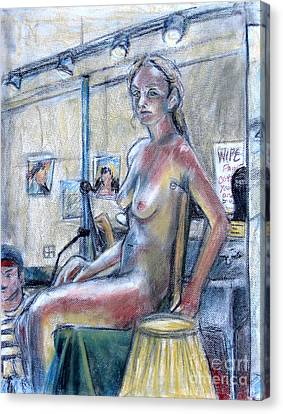 Figure Drawing- Primary Colors  Canvas Print by Samantha Geernaert