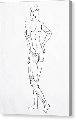 Figure Drawing Study I  Canvas Print by Irina Sztukowski