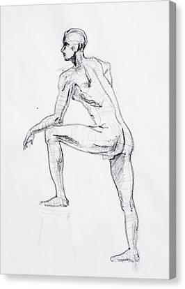 Figure Drawing Canvas Print - Figure Drawing Study II by Irina Sztukowski