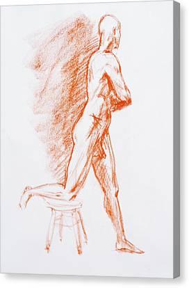 Figure Drawing Canvas Print - Figure Drawing Study IIi by Irina Sztukowski