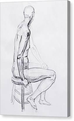 Figure Drawing Canvas Print - Figure Drawing Study V by Irina Sztukowski