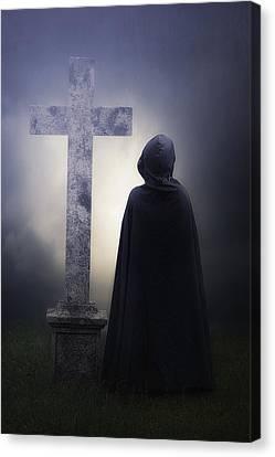 Figure On Graveyard Canvas Print by Joana Kruse