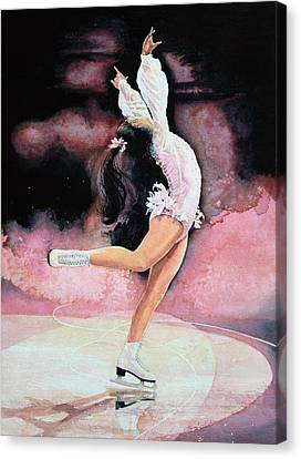 Figure Skater 20 Canvas Print by Hanne Lore Koehler