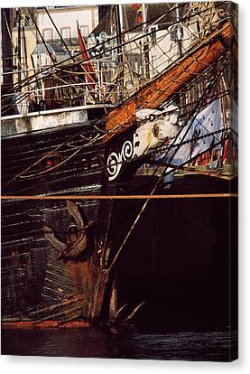 Figurehead On Tall Ship In Douarnenez Canvas Print by Panoramic Images