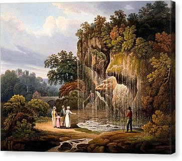 Figures By A Waterfall, 1825 Canvas Print