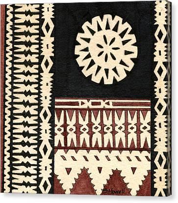 Fijian Tapa Cloth Canvas Print by Sandi Howell