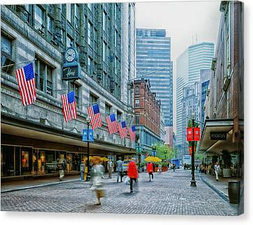 Business Beauties Canvas Print - Filene's Department Store - Boston by Mountain Dreams