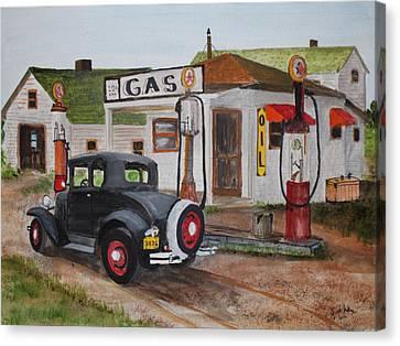 Jack Brauer Canvas Print - Fill Er Up by Jack G  Brauer
