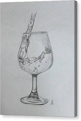 Fill My Glass Canvas Print by Shelby Rawlusyk
