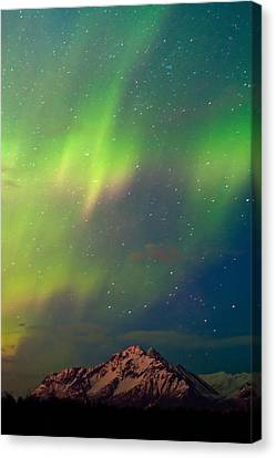 Filled With Aurora Canvas Print by Ron Day