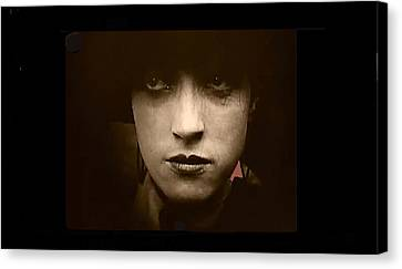 Film Homage Billy Bitzer Miriam Cooper Intolerance 1916 Screen Capture Color Added 2012 Canvas Print by David Lee Guss