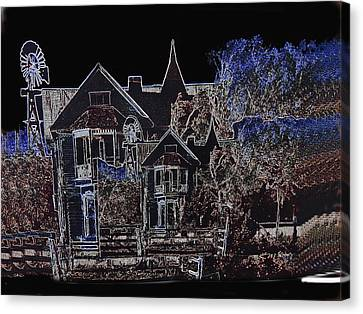 Film Homage The House Of Usher 1965 Hoyle's Castle White Oaks N.m. 1968-2012 Canvas Print by David Lee Guss