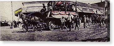 Film Homage Yankee Doodle Dandy 1942 Horse Drawn Wagon Congress And Stone Tucson Arizona C.1895-2008 Canvas Print by David Lee Guss
