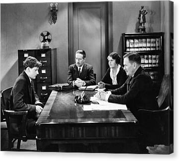 Film Still Office Scene Canvas Print by Underwood Archives