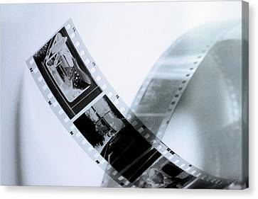 Film Strips Canvas Print by Tommytechno Sweden